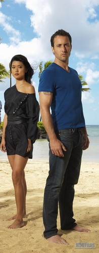 Steve and Kono wallpaper possibly containing a beach entitled Grace & Alex