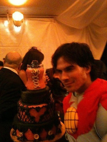 Ian Somerhalder wallpaper possibly with a sign titled Halloween 2011.