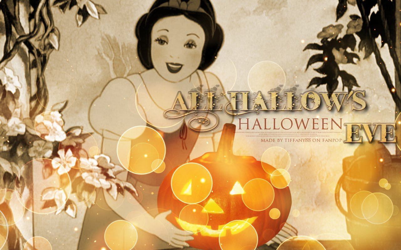 Disney princess halloween wallpaper