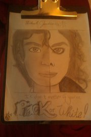 Hand drawn Michael Jackson Black and White