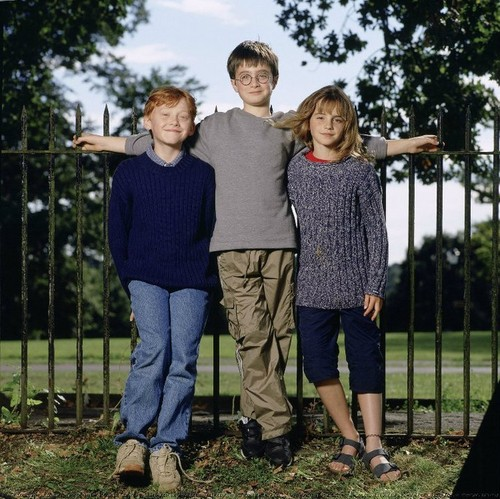 Harry,Ron and Hermione!So Young...