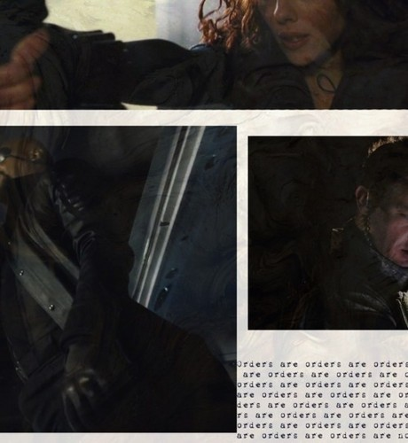 Hawkeye, Black Widow and Nick Fury