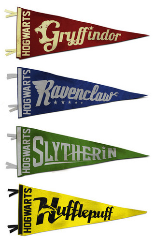 harry potter wallpaper entitled Hogwarts House Pennant Collection
