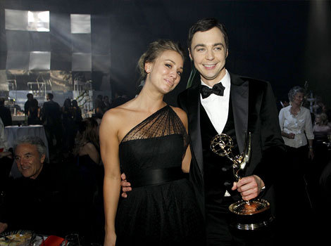Jim Parsons and Kaley Cuoco @ 63rd Annual Primetime Emmy Awards