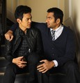 John Cho & Kal Penn ~ Reuters Press Junket Portrait