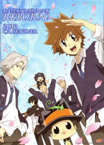 Katekyoushi Hitman Reborn! Hintergrund with Anime titled KHR Calender 2012