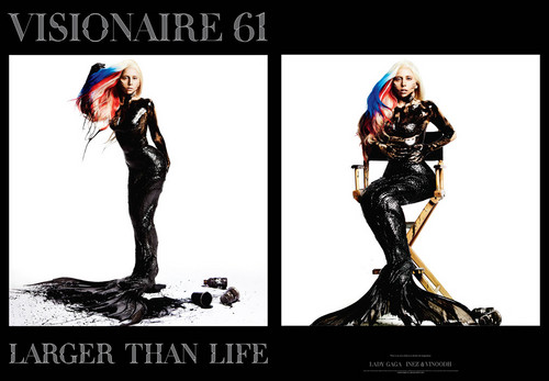 Lady GaGa covers Visionaire magazine
