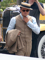 Leo on Gatsby set