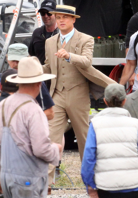 Leo on Gatsby set