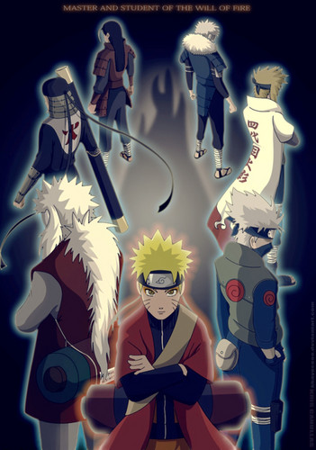 Naruto Shippuuden karatasi la kupamba ukuta with anime called Master and Student