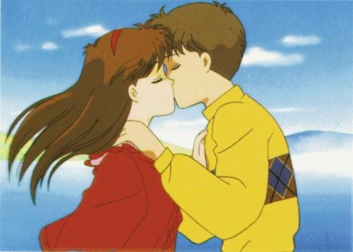 Mikage and Hideaki kiss
