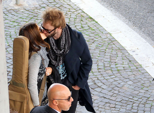 Nikki & Paul arriving at the Fiumincino Airport in Rome, Italy