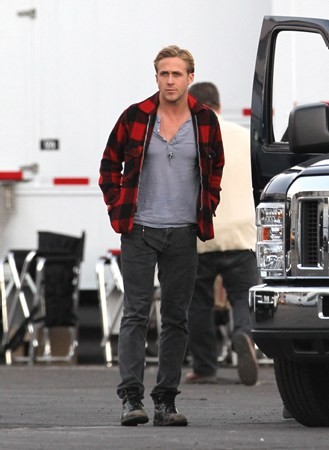 "On set of ""The Gangster Squad"" (October 27)"