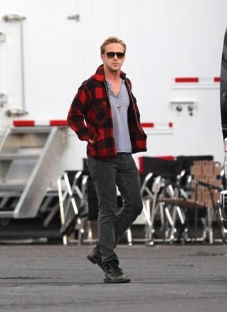 "On set of ""The Gangster Squad"" (October 27)"