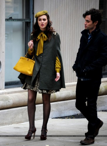 On the set of Gossip Girl - October 31