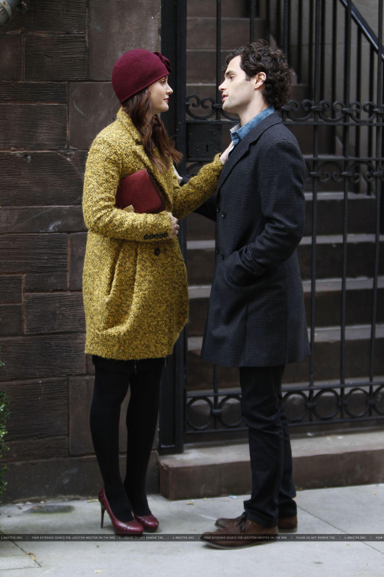 On the set of Gossip Girl - October 31