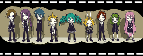 Rin und Len Kagamine Hintergrund titled Rin and Len (and the others)