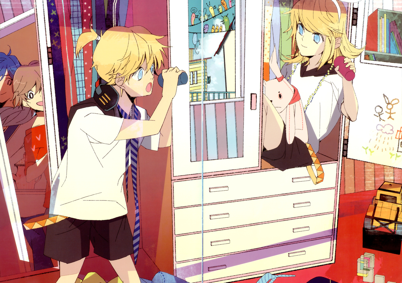 Rin and Len (and the others)