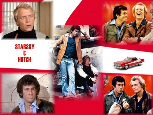 Starsky and Hutch (1975) karatasi la kupamba ukuta containing a well dressed person called S&H