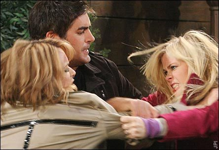 Sami and Nicole Fighting