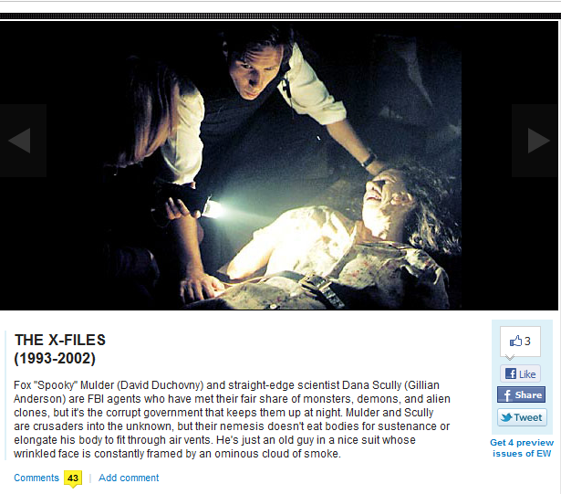 The X-Files Scary Good! 16 Creepiest TV Shows