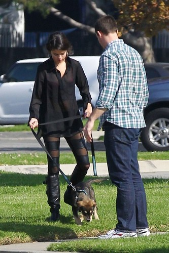 Selena - Walking Baylor - October 31, 2011