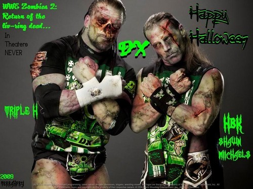 Shawn Michaels and Triple H as zombies