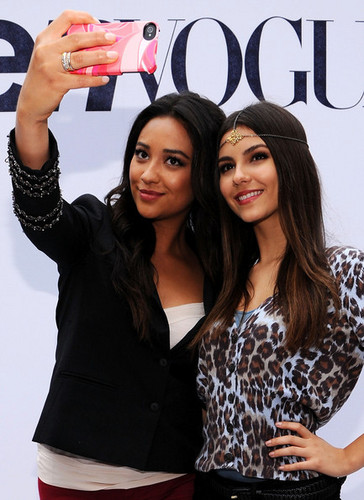 Shay at Teen Vogue Party with Victoria Justice