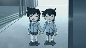 Detective Conan Couples wallpaper probably containing a jalur lalu lintas and anime called Shinichi and Ran