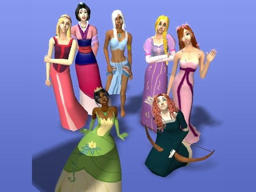Sims 2 More Disney Princess