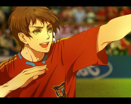 Bola sepak player Spain: Goooaaaalllllll