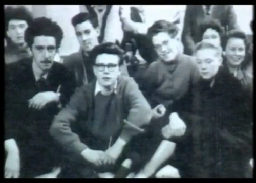 Stuart Sutcliffe and his class mates
