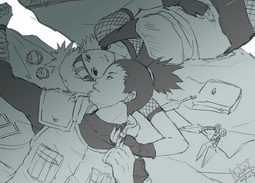 Temari and Shikamaru Nara