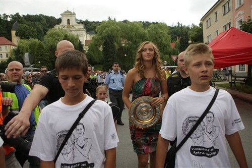 The Dish and the Champion celebrating in Petra Hometown Fulnek