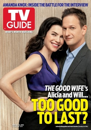 The Good Wife's Julianna Marguiles and Josh Charles share the cover of TV Guide!