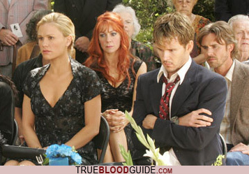 True Blood fond d'écran containing a business suit, a dress suit, and a bridesmaid called Gran's Funeral