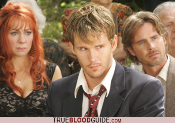 True Blood fond d'écran with a business suit, a suit, and a dress suit entitled Gran's Funeral