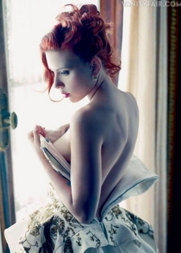 Scarlett Johansson wallpaper probably with skin and a portrait entitled Vanity Fair Photoshoot