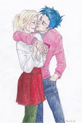 Victoire Weasley and Teddy Lupin