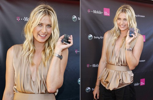 Maria Sharapova in Where's My kulay-rosas Dress