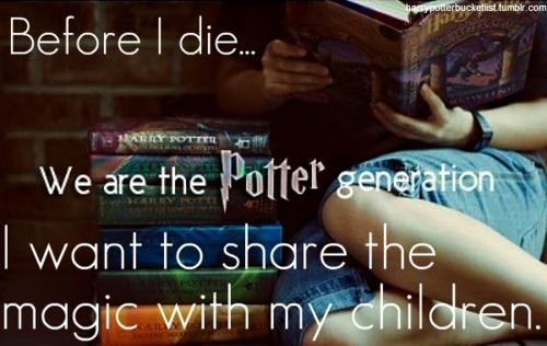 We are the Potter Generation!