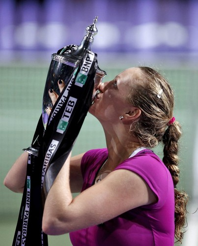 tahun Kvitova. After she won Wimbledon ,she won also Tournament Champions