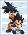 chibi goku and vegeta  - dragon-ball fan art