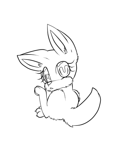 chibi sonic wolf/fox base