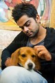 fun time with his     dog - virat-kohli photo