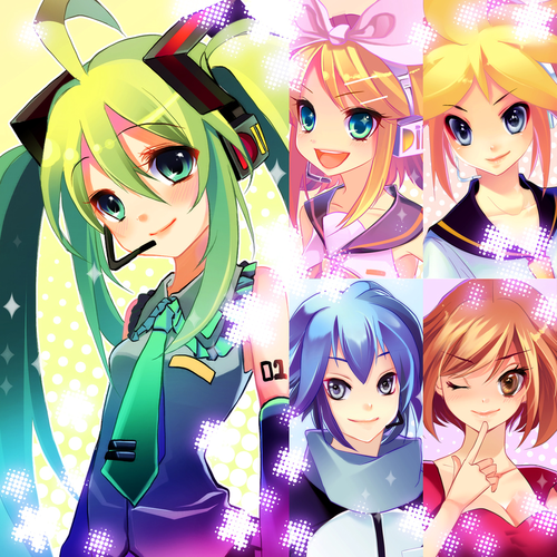 Rin und Len Kagamine Hintergrund probably with Anime titled len, rin and the others