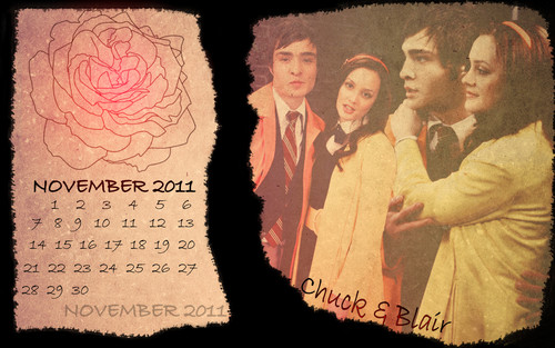 Blair & Chuck wallpaper probably containing a sign entitled november calendar