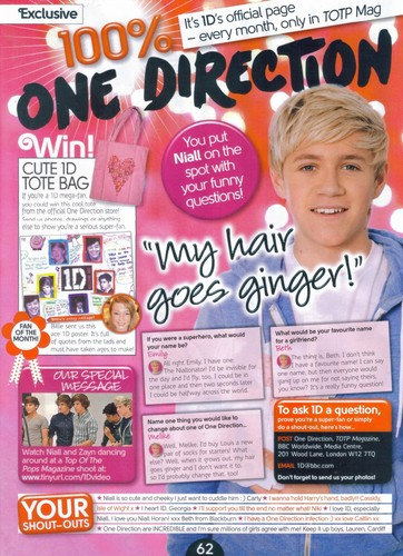 1D in Top Of The Pops magazine x♥x
