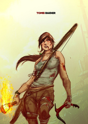 Tomb Raider Reboot wallpaper probably containing bare legs called A Surviver is born by ultimatetatts