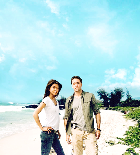 Steve and Kono kertas dinding called Alex&Grace